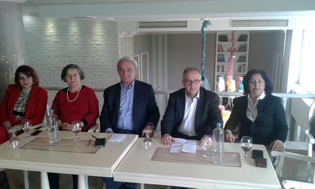 Ο ευρωβουλευτής της ΛΑΕ Νίκος Χουντής στην Ημαθία