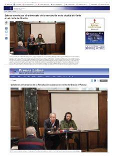 Διεθνής προβολή της εκδήλωσης για τα 60 χρόνια από την Επανάσταση στην Κούβα που διοργάνωσε η εφημερίδα «Η ΑΛΛΗ ΑΠΟΨΗ» στη Βέροια
