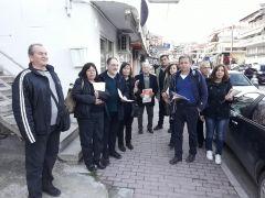 Περιοδείες της Λαϊκής Συσπείρωσης Βέροιας σε εμπορικά καταστήματα και καφενεία της οδού Πιερίων και της Πλ. Ωρολογίου