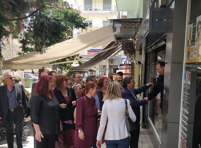 Δεύτερη επίσκεψη του Αντώνη Μαρκούλη στην αγορά της Βέροιας