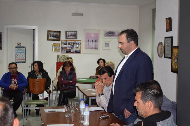 Δημόσιους Διαλόγους με κατοίκους της Αγίας Βαρβάρας και της Άμμου πραγματοποίησε ο Κώστας Βοργιαζίδης
