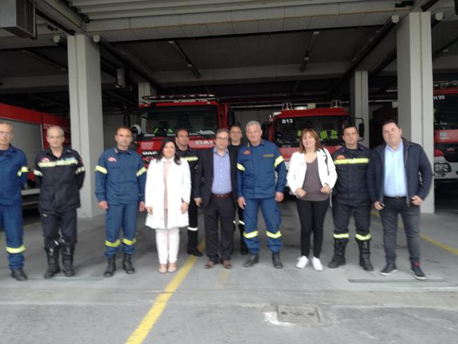 Προτεραιότητα στον Πολίτη: επίσκεψη του Αντώνη Μαρκούλη στην Πυροσβεστική Υπηρεσία Βέροιας